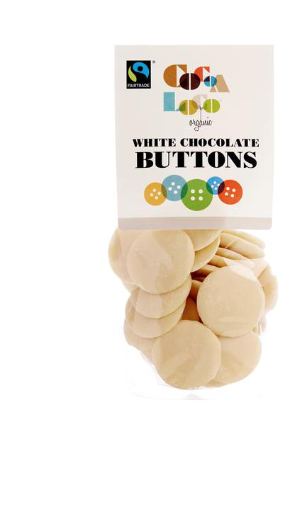 Cocoa Loco White Chocolate Buttons