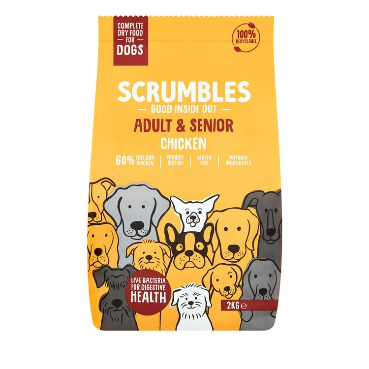 Scrumbles - Complete Dry Dog Food for Adult & Senior - Chicken 2kg